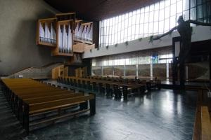 Interior de la iglesia de Nowa Huta.