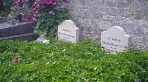 Tumbas de Vincent y Theo Van Gogh.Cementerio de Cementerio Auvers su Oise (Francia).