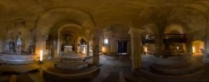 Interior de la iglesia de los Santos Justo y Pastor.