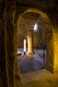 Vista desde la capilla funeraria.