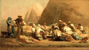 Las cosechadoras en descanso (Millet, 1853)