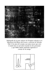 Radiografía realizada al Ángelus de Millet por el laboratorio del Louvre.