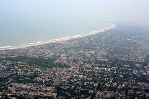 Ciudad de Chennai (Madrás) en la actualidad.