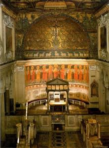 Presbiterio de la basílica de San Clemente en Roma.