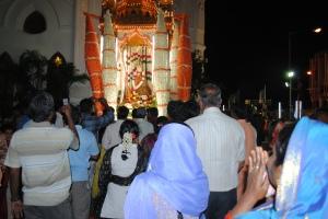 Procesión de la Virgen de Mylapore.
