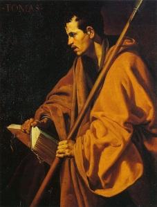Cuadro de de Santo Tomás por Diego Velázquez