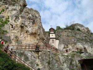 Exterior de los monasterios rupestres de Ivanovo.
