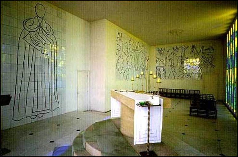 Capilla del Rosario en Vence de Henri Matisse (Francia, 1947/51)