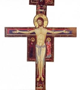 Crucifijo realizado por Alberto Sozio. Catedral de Espoleto.
