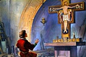 San Francisco delante del Cristo de San Damián