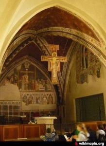 El Cristo de San Damián original se encuentra en la basílica de Santa Clara en Asís.
