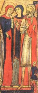 Figuras a la izquierda de Cristo
