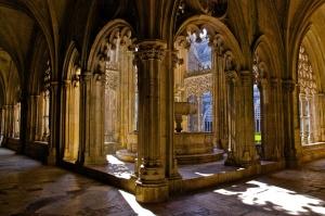 Galería de la abadía de Santa María d'Alcobaça.