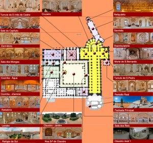 Plano de la abadía de de Santa María d'Alcobaça.