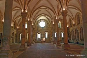Refectorio de la abadía de Santa María d'Alcobaça.