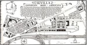 Plano de la Exposición Iberoamericana de 1929.