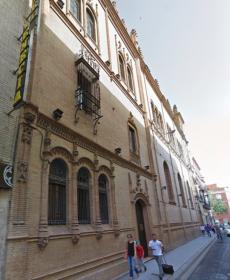 Fachada de la Capilla de los Luises a la calle Trajano.