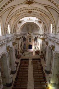 Vista interior de la planta Iglesia Nuestra Señora de la Consolación en Altea