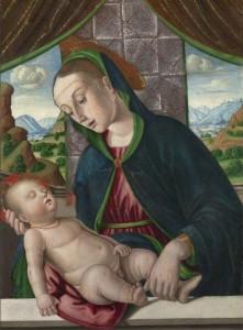 Virgen con niño de Giovanni de Santi