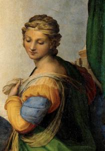 Santa Bárbara (detalle de Madonna Sixtina)