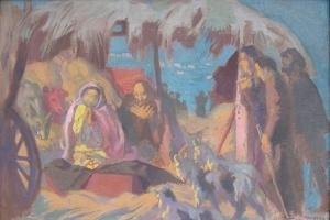 Cuadro La Natividad (1899) de Maurice Denis
