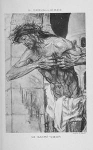 Pintura Sagrado Corazón (1905) de George Desvallieres