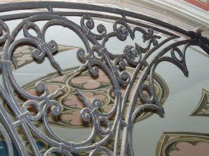 Detalle enrrejado del altar de La Capilla Italiana