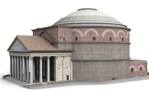 Renderizado del Panteón de Roma