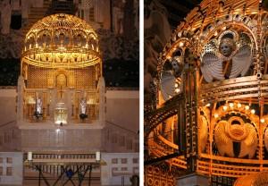 Detalles del altar diseñado por Otto Wagner iglesia san Leopoldo