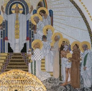 Detalle zona derecha del retablo iglesia san Leopoldo