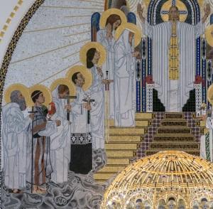 Detalle zona izquierda del retablo iglesia san Leopoldo