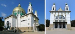 Exterior iglesia San Leopoldo de Otto Wagner.
