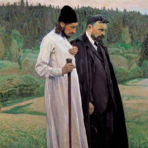 Los filosofos de mijail nesterov 1917