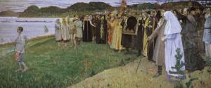 En Rusia, el alma del pueblo (1916) Mijail Nesterov