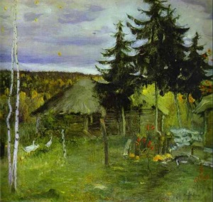 Otoño en el pueblo 1942 Mijail Nesterov