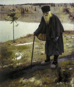 Mijail Nesterov cuadro el peregrino