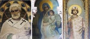 Pinturas de diferentes iglesias y conventos: San Metodio, La Virgen con el Niño y San Boris
